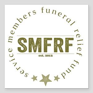 """SMFRF Logo  Square Car Magnet 3"""" x 3"""""""