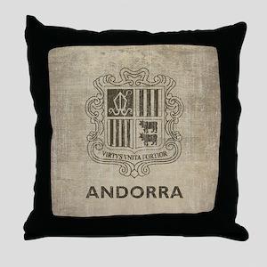 Vintage Andorra Throw Pillow
