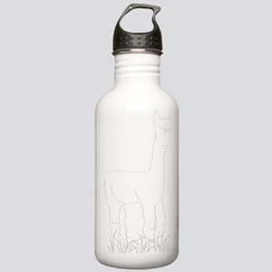 Adorable Alpaca White  Stainless Water Bottle 1.0L