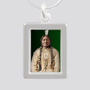 11x17-SBu Silver Portrait Necklace