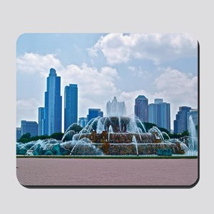 Fountain in Grant Park Chicago Mousepad