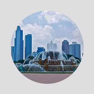 Fountain in Grant Park Chicago Round Ornament