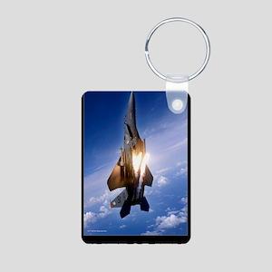 Military Motivational Post Aluminum Photo Keychain