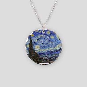 Starry Night - Van Gogh Necklace Circle Charm