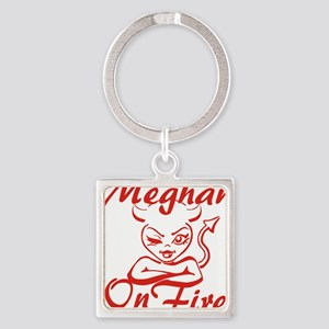 Meghan On Fire Square Keychain