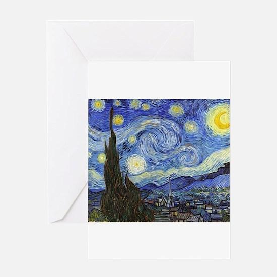 Starry Night - Van Gogh Greeting Card
