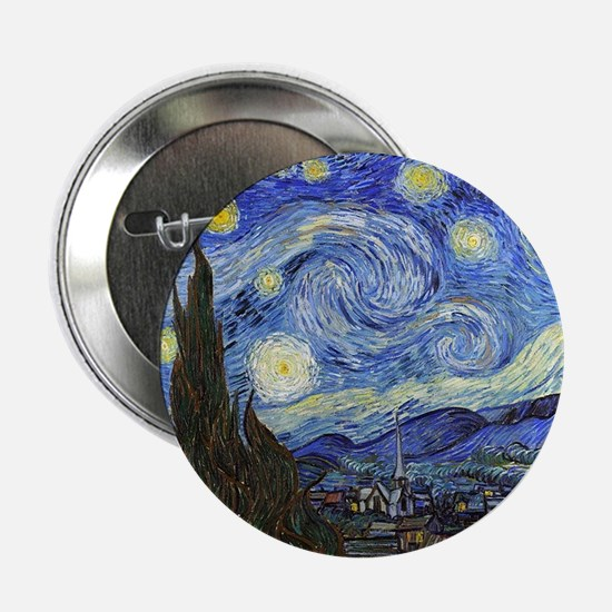 "Starry Night - Van Gogh 2.25"" Button"