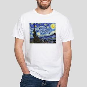 Starry Night - Van Gogh White T-Shirt