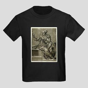 Prudence - Ugo da Carpi - c1520 Kids Dark T-Shirt
