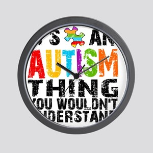 12Sq Autism Thing Wall Clock