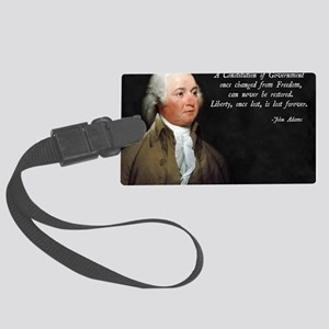 John Adams Constitution Quote Large Luggage Tag