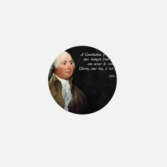 John Adams Constitution Quote Mini Button