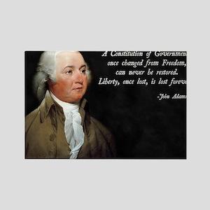 John Adams Constitution Quote Rectangle Magnet