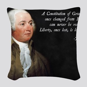 John Adams Constitution Quote Woven Throw Pillow