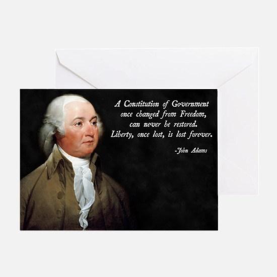 John Adams Constitution Quote Greeting Card