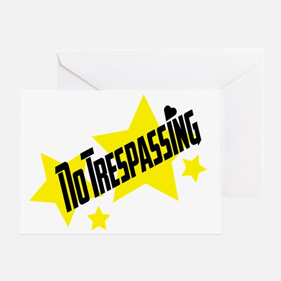 glambert stars no trespassing! Greeting Card