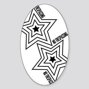 Glambert edgy Sticker (Oval)