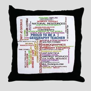 Proud Geography Teacher Throw Pillow