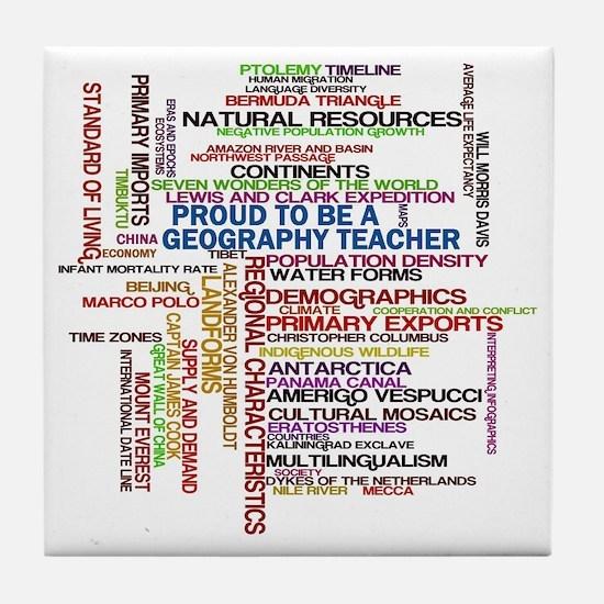 Proud Geography Teacher Tile Coaster
