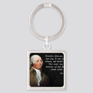 John Adams Democracy Square Keychain