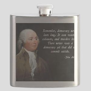 John Adams Democracy Flask