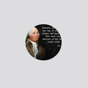 John Adams Democracy Mini Button