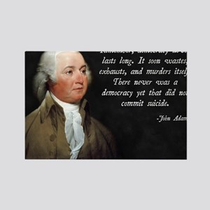 John Adams Democracy Rectangle Magnet