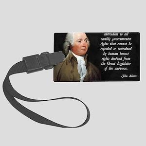 John Adams Rights Large Luggage Tag