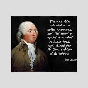 John Adams Rights Throw Blanket