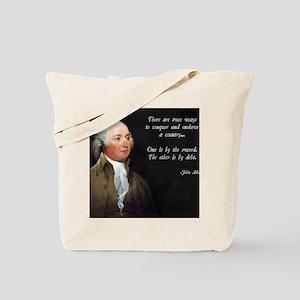 John Adams Sword and Debt Tote Bag
