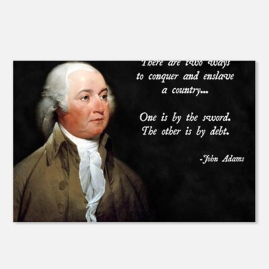 John Adams Sword and Debt Postcards (Package of 8)