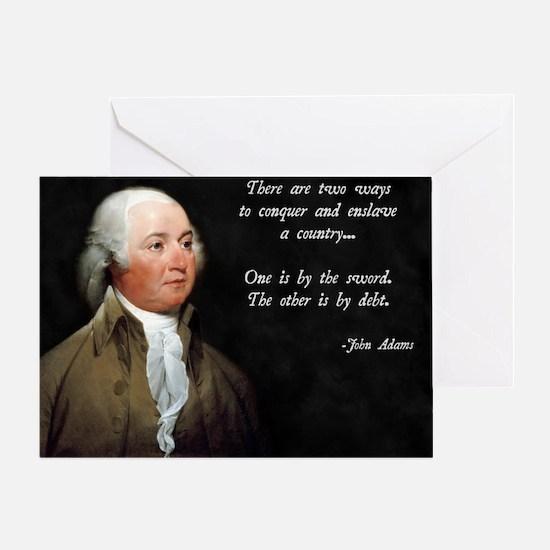 John Adams Sword and Debt Greeting Card