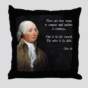 John Adams Sword and Debt Throw Pillow