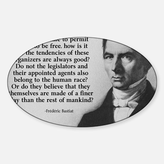 Frederic Bastiat Finer Clay Sticker (Oval)