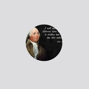 John Adams Israel Mini Button