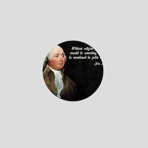 John Adams Religion Quote Mini Button