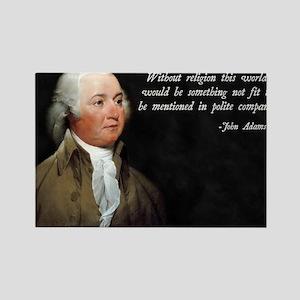 John Adams Religion Quote Rectangle Magnet