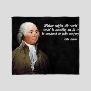 John Adams Religion Quote Throw Blanket