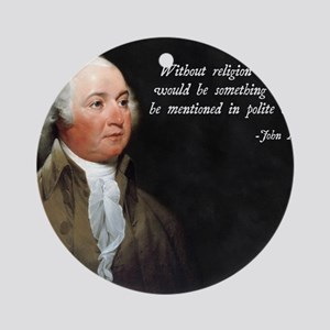 John Adams Religion Quote Round Ornament