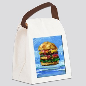 Cheeseburger in the Tropics Canvas Lunch Bag
