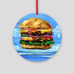 Cheeseburger in the Tropics Round Ornament