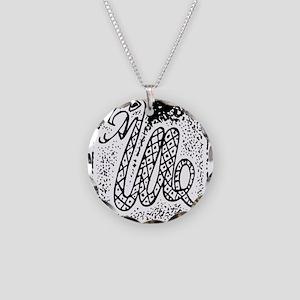 Snake33Light Necklace Circle Charm