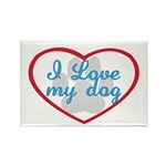 I Love My Dog Rectangle Magnet