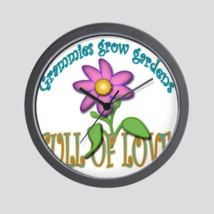 GRAMMIES GROW GARDENS FULL OF LOVE Wall Clock
