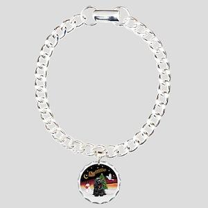 R-NightFlight-BlackCocke Charm Bracelet, One Charm