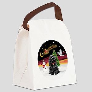 R-NightFlight-BlackCocker Canvas Lunch Bag