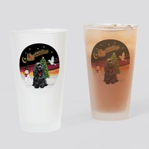 R-NightFlight-BlackCocker Drinking Glass