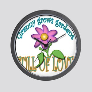 GRANNY GROWS GARDENS FULL OF LOVE Wall Clock