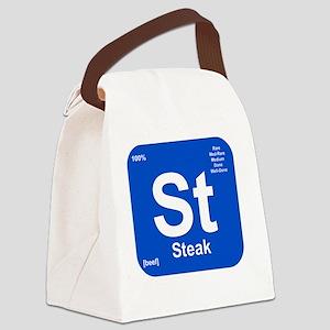 Steak Element Canvas Lunch Bag