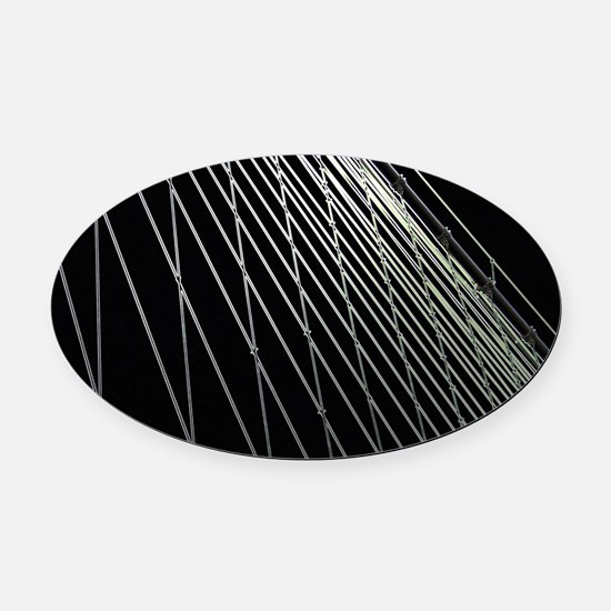 Steel Cables Oval Car Magnet